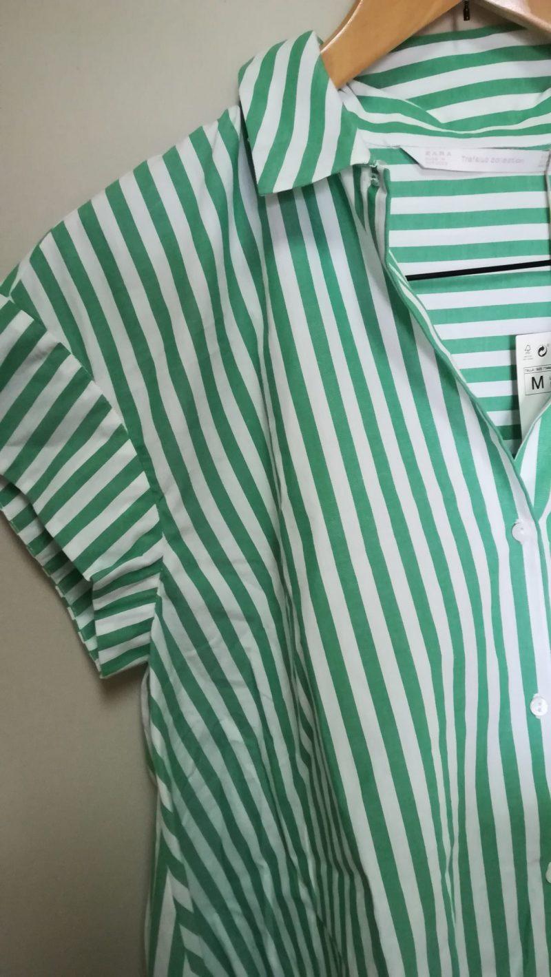 ZARAストライプフレアシャツ1