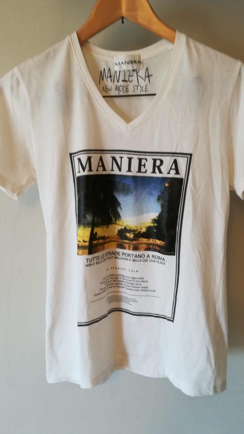 MANIERAプリントTシャツ