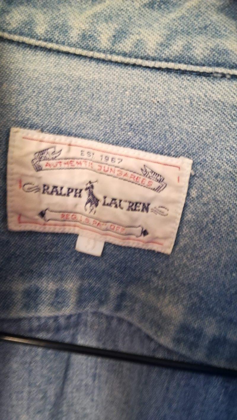 ラルフローレンデニムシャツロゴ