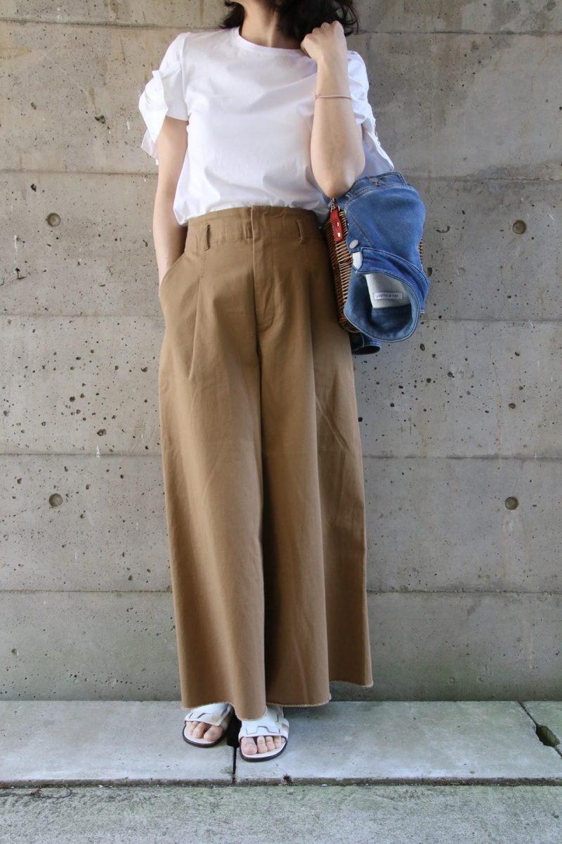 袖リボンTシャツコーディネート3