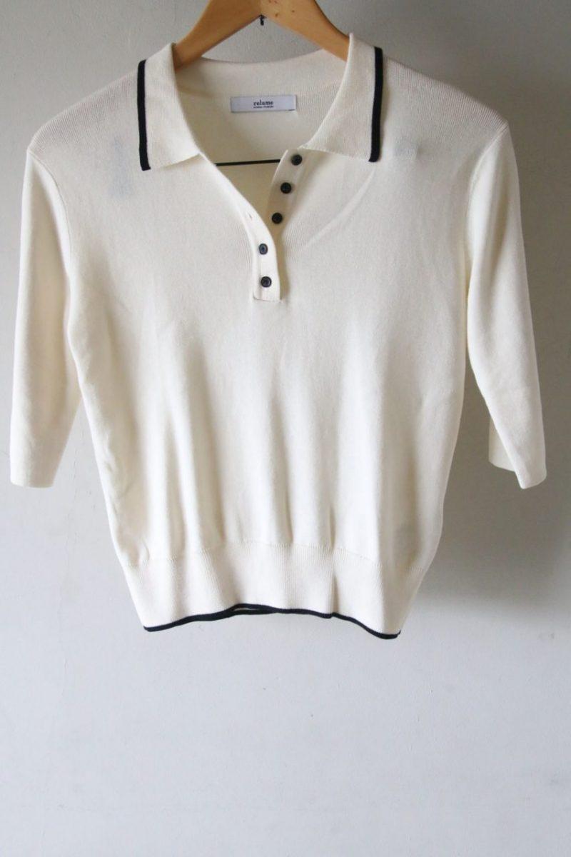 レリュームポロシャツ