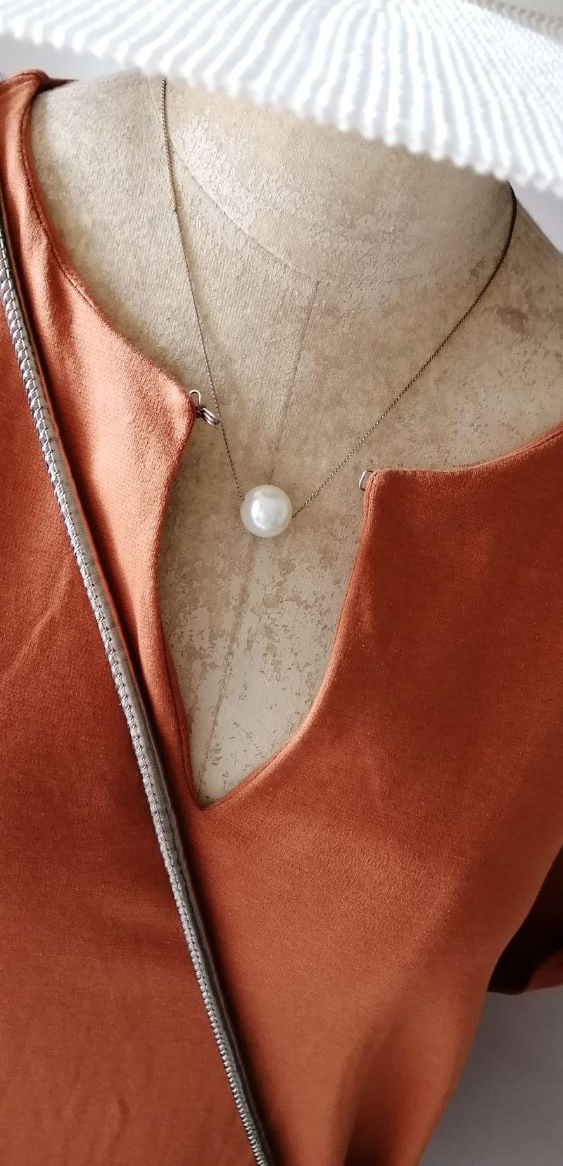 UNITED TOKYO スキッパ―ロングワンピース衿